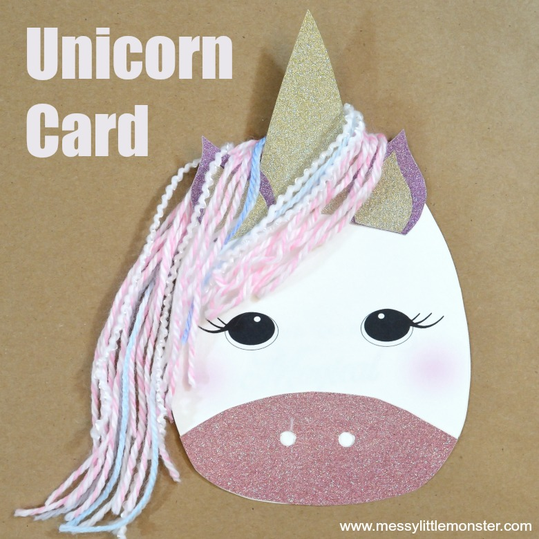 Unicorn Mother's Day Card craft for kids
