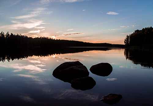 Beautiful Lake in sweden