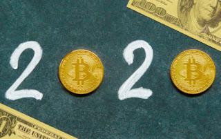 New year Bitcoin logo