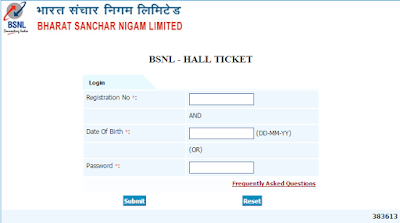 download BSNL JE Exam Hall Ticket