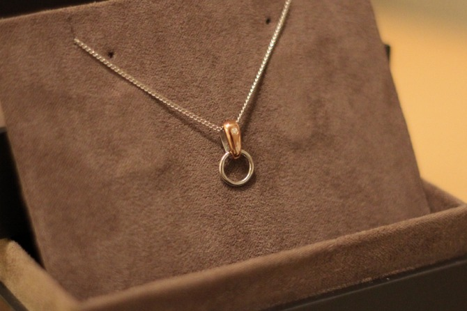 Clogau charm carrier necklace