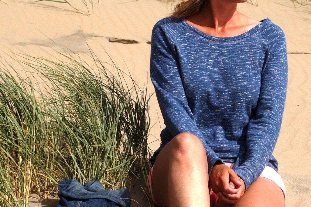 lane raglan in Nosh organics loopback sweatshirting
