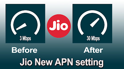 Fast internet setting for jio