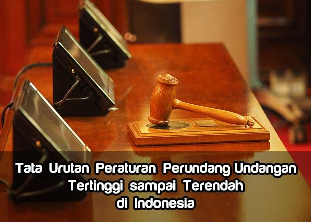 Tata Urutan Peraturan Perundang-Undangan Tertinggi sampai Terendah di Indonesia