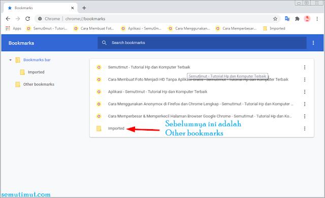 cara membackup bookmark di google chrome