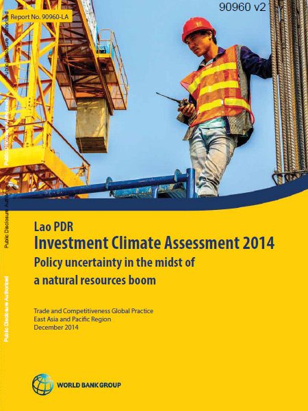 Cover of Lao PDR - Investment Climate Assessment 2014 report