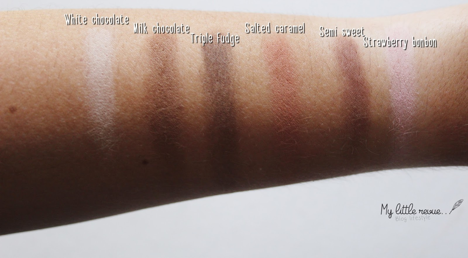 Swatches Chocolate bar Too Faced