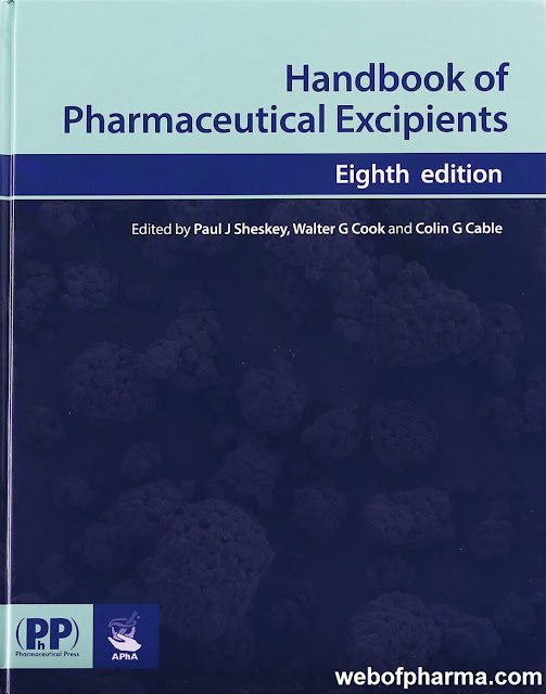 Handbook Of Pharmaceutical Excipients 8th Edition