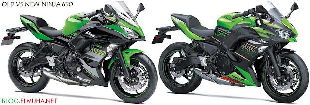 Kawasaki Ninja 650 2020 baru vs lama new vs old