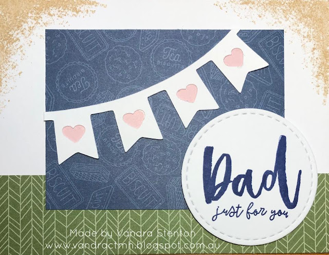 #CTMHVandra, #ctmhTimber, Colour dare, color dare, TicTacToe, Fathers Day, cricut, operation smile, just for you, hearts, stamping, Dad, second generation stamping, Artbooking, banner,