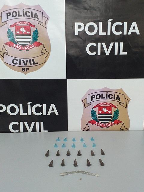 Polícia Civil prende em flagrante suspeito de tráfico de drogas em Cajati