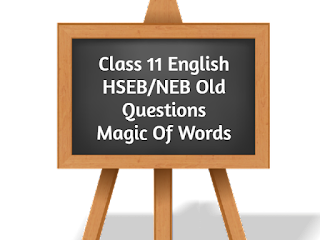 Class 11 English HSEB_NEB Old Questions