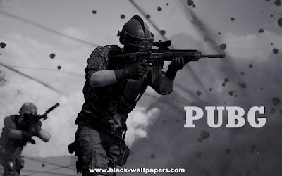 pubg black wallpaper
