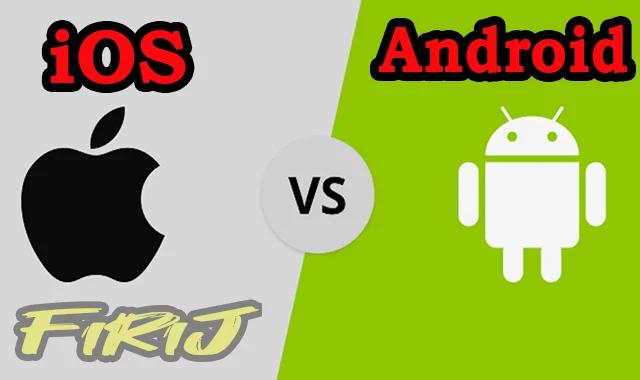 Comparaison entre Android vs iOS