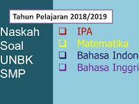 Kumpulan Soal UN SMP/MTs Tahun 2019 Semua Mata Pelajaran