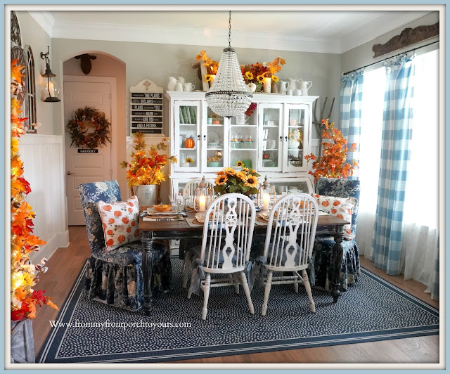 Farmhouse Cottage Style Fall Dining Room-French Country-Ballard Designs Rug-From My Front Porch To Yours