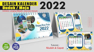 Desain Kalender Meja 2022 PSD