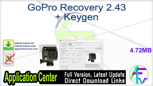 GoPro Recovery 2.43 + Keygen