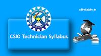 CSIO Technician Syllabus