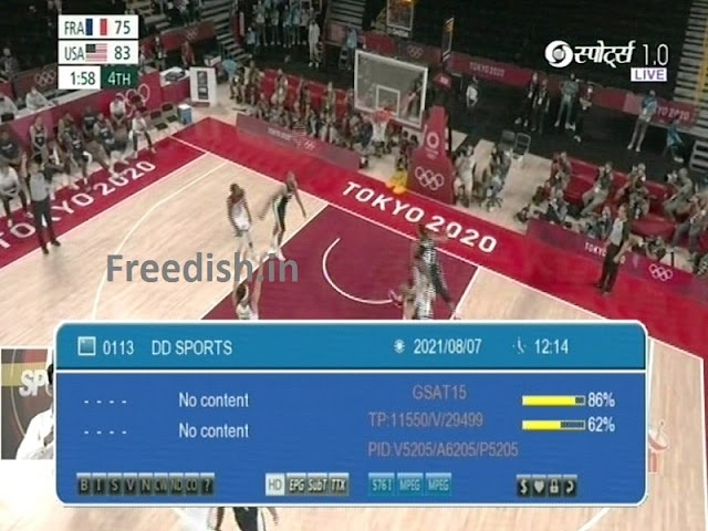 DD Sports 1.0 Special Live Feed  on DTT and DD Free dish