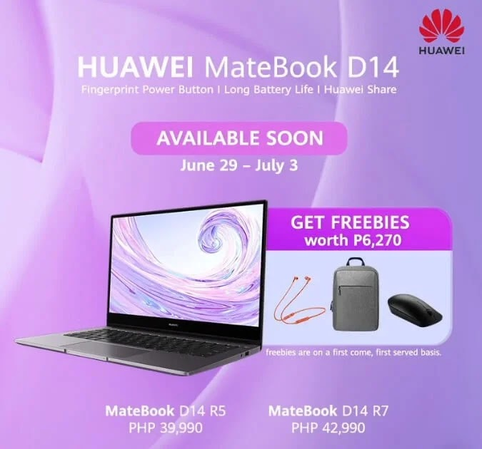 Huawei Targets Young Consumers with new Huawei MateBook D14; Yours Starting at Php39,990