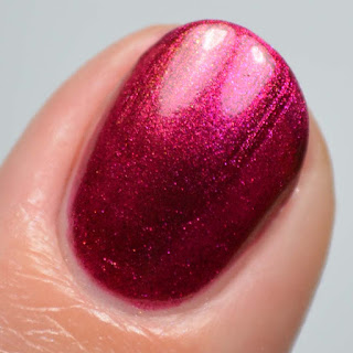 red multichrome nail polish