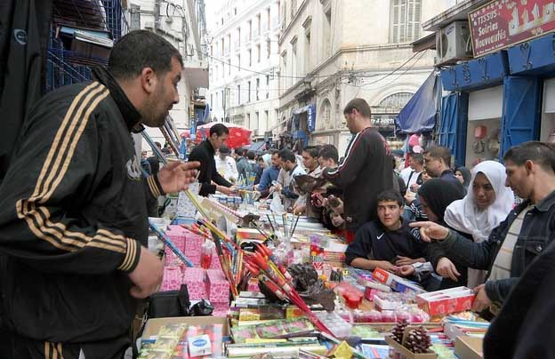 Buying fireworks for the New Year in North Africa