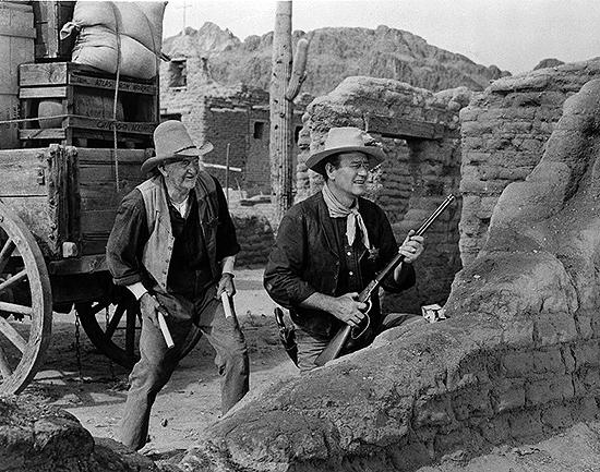 Walter Brennan y John Wayne