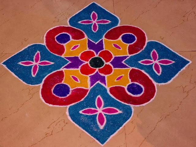 Easy Diwali rangoli Patterns