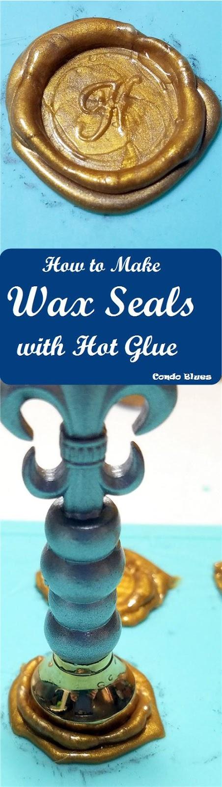 Easy DIY wax seals and hot glue gun sealing wax