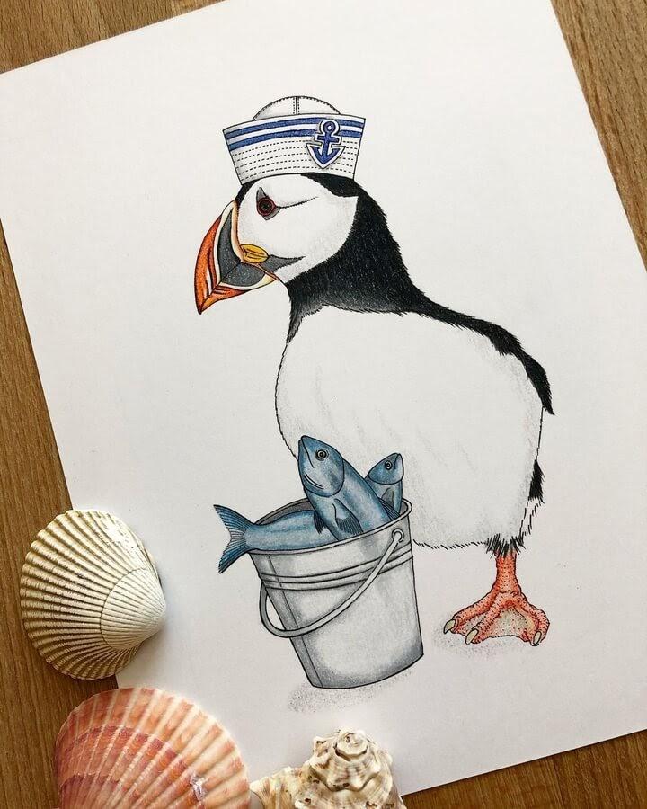 09-The-puffin-fisherman-Diane-Swartzberg-www-designstack-co