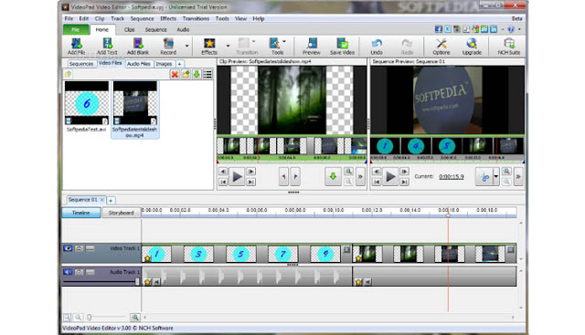 VideoPad Video Editor Software Edit Video Ringan