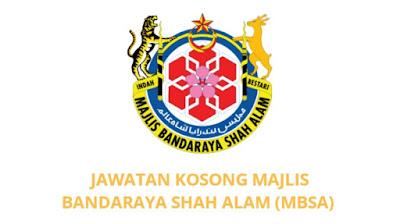 Jawatan Kosong Majlis Bandaraya Shah Alam 2019 (MBSA)