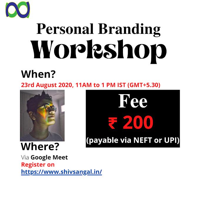 Personal Branding Workshop: Establish Yourself Now
