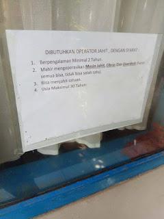 Lowongan Kerja Operator Jahit PT Panca Jaya Sejati