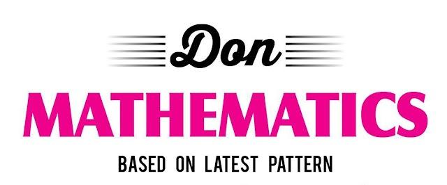 10ம் வகுப்பு Maths பாடத்திற்கு Don நிறுவனம் வெளியிட்டுள்ள முழுமையான கையேடு English Medium