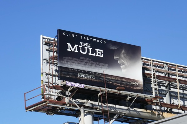Mule movie billboard