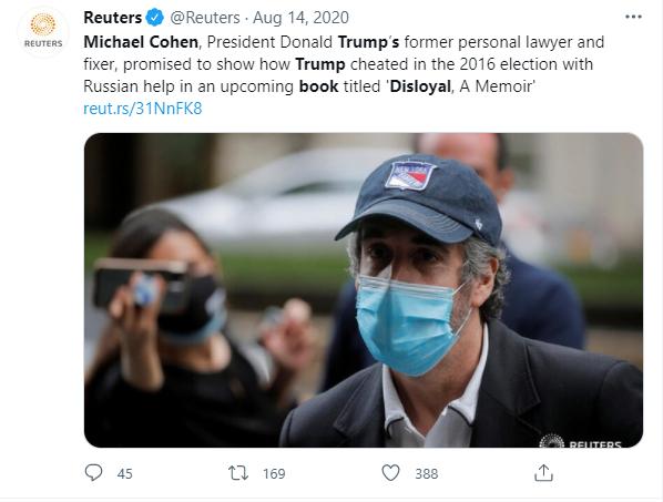 Cohen says Trump is a cheat, liar