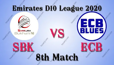 Who will win SBK vs ECB 8th T20I Match