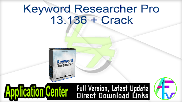 Keyword Researcher Pro 13.136 + Crack