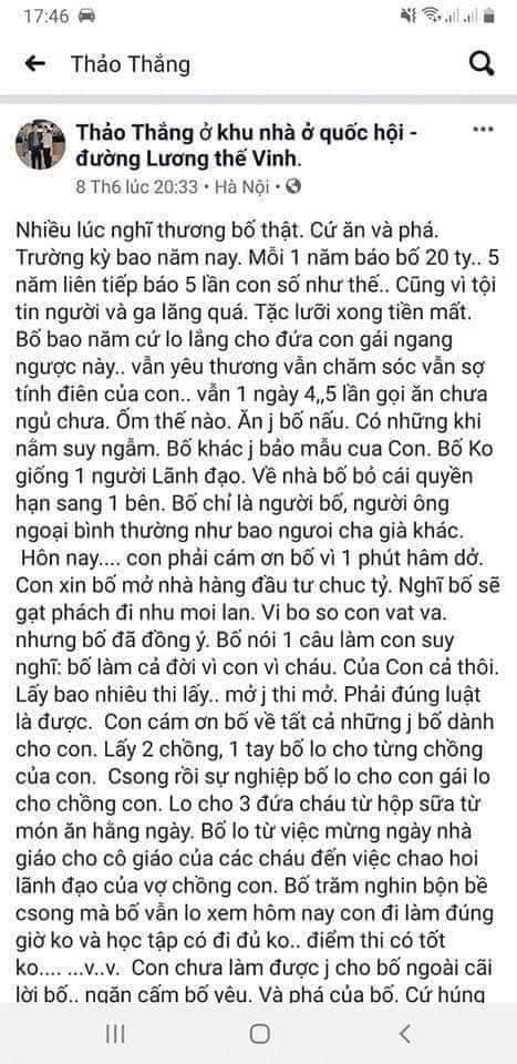 Tiểu thư Thanh Thảo con ông Nguyễn Mạnh Thắng khoe mỗi năm phá 20 tỉ trên Facebook 2