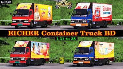 Eicher Container Truck Mod 1.31 - 38