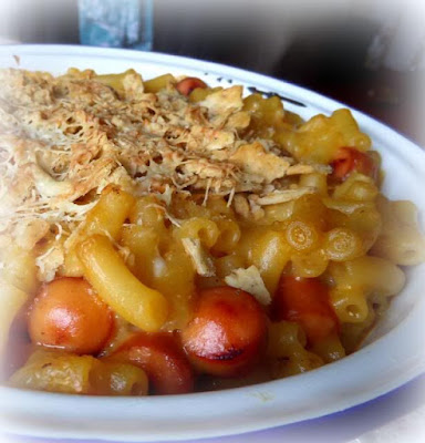 Mac and Cheese Dog Casserole