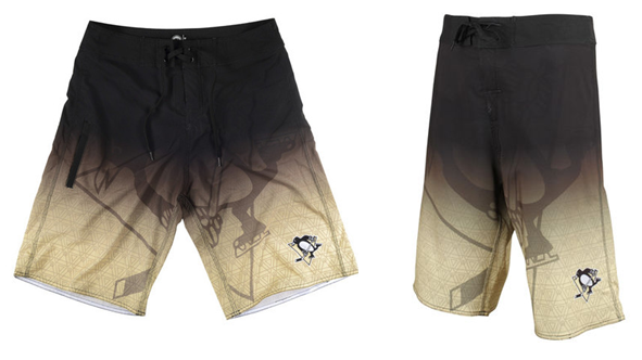 Review of Pittsburgh Penguins Official NHL Board Shorts