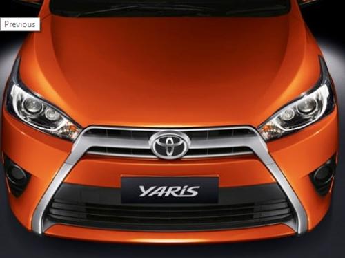 Toyota Yaris Orange Brush Elegant Style 2016