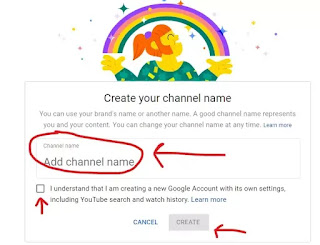 Create YouTube channel