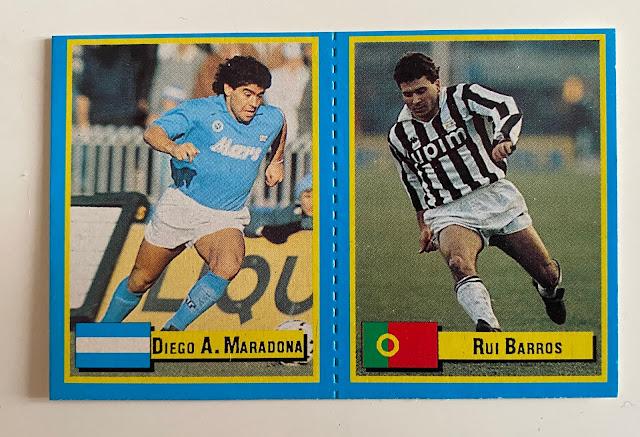 Figurina Maradona Microcard Vallardi
