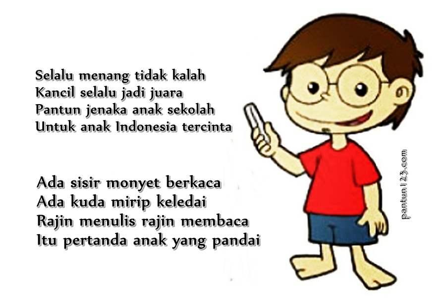Pantun anak-anak Indonesia paling lucu