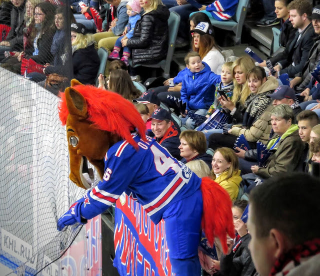 St. Petersburg SKA ice hockey team horse mascot