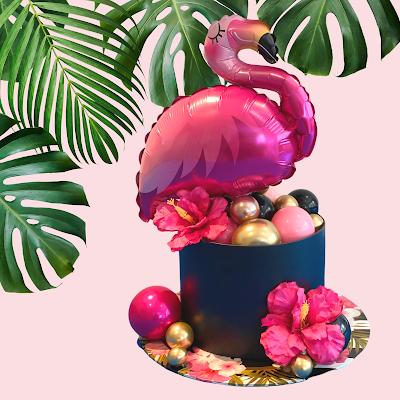 Tropical Flamingo Design by Sue Bowler